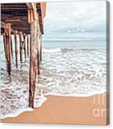 Under The Boardwalk Salsibury Beach Canvas Print