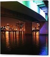 Under The Bridge In Long Beach Canvas Print