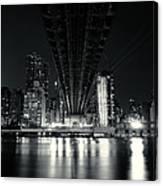 Under The Bridge - New York City Skyline And 59th Street Bridge Canvas Print