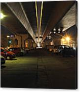 Under The Flyover  Canvas Print