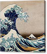 Under The Great Wave Off Kanagawa Canvas Print