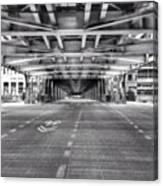 Chicago Wells Street Bridge Photo Canvas Print