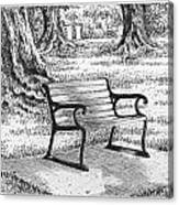 Under The Oaks Canvas Print