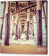 Under The Pier In Orange County California Picture Canvas Print