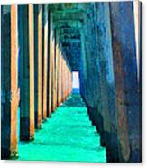 Under The Pier Too Canvas Print