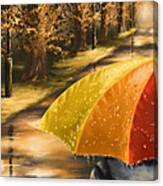Under The Rain Canvas Print
