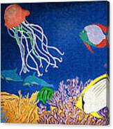 Under The Sea Mural 1 Canvas Print