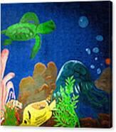 Under The Sea Mural 2 Canvas Print