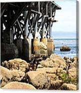 Under The Steinbeck Plaza Overlooking Monterey Bay On Monterey Cannery Row California 5d25050 Canvas Print