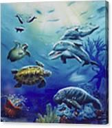 Under Water Antics Canvas Print