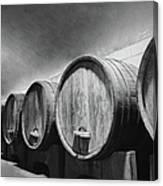 Underground Wine Cellar With Wooden Canvas Print