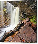 Underneath The B Reynolds Waterfall Canvas Print