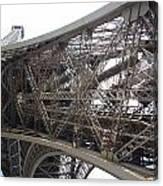 Underneath The Tour Eiffel Canvas Print