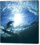 Surfing Into The Eye Canvas Print