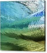 Underwater Wave Curl Canvas Print