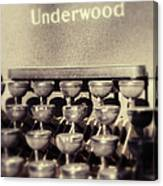Underwood Canvas Print