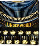 Underwood Typewriter Canvas Print