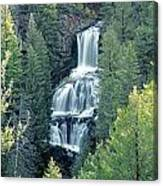 109008-undine Falls In Yellowstone Canvas Print