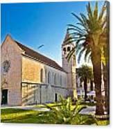 Unesco Town Of Trogir Church View Canvas Print