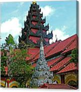 Unfinished Temple In Tachilek-burma Canvas Print
