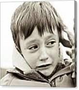 Unhappy Boy Canvas Print