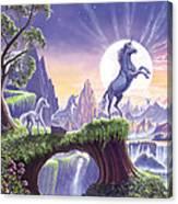 Unicorn Moon Canvas Print