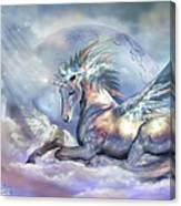 Unicorn Of Peace Canvas Print