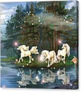 Unicorn Wizard Pool Canvas Print