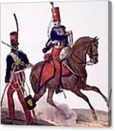 Uniforms Of The 5th Hussars Regiment Canvas Print