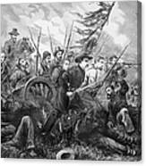 Union Charge At The Battle Of Gettysburg Canvas Print