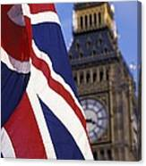 Union Flag And Big Ben Canvas Print