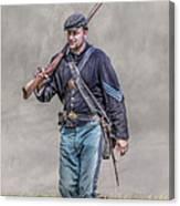 Union Infantry Sergeant Soldier  Canvas Print