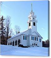 Union Meeting House In West Newbury Vermont Canvas Print