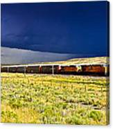 Union Pacific Racing A Thunder Storm Canvas Print