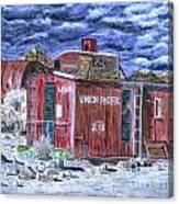 Union Pacific Train Car Painting Canvas Print