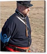 Union Soldier At Brooksville Raid Canvas Print