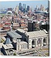 Union Station And Downtown Kansas City Canvas Print