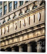 Union Station Chicago Sign And Building Canvas Print