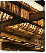 Union Station Roof Beams Canvas Print