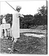 Union Suit Golfer Canvas Print