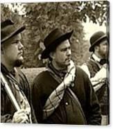 Union Troops Awaiting Orders - Brandenburg Ky Canvas Print