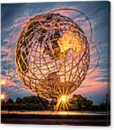 Unisphere At Sunset Canvas Print