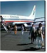 United Airlines Ual Boeing 737-222 N9069u April 1974 Canvas Print