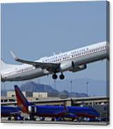 United Boeing 737-924 N75436 Continental Retro Taking Off Phoenix Sky Harbor March 6 2015 Canvas Print