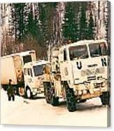 United Nations Convoy In Bosnia Canvas Print