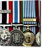 United Nations Peacekeeping Korean War Nato Medals Canvas Print