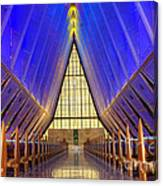 United States Airforce Academy Chapel Interior Canvas Print