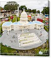 United States Capital Building At Legoland Canvas Print