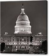 United States Capitol At Night Canvas Print