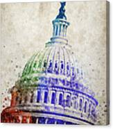 United States Capitol Dome Canvas Print